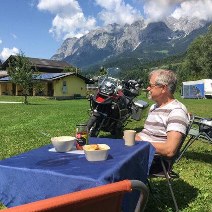 Austrijas Camping Vierthaler un beidzot saulains laiks