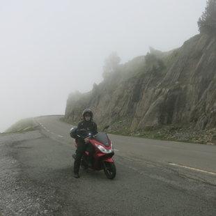 Pireneju kalni. Kalnu pāreja pie Francijas-Spānijas robežas